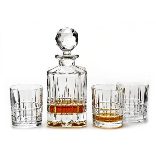 Кристален комплект за уиски DOVER, 7 части, Crystal Bohemia